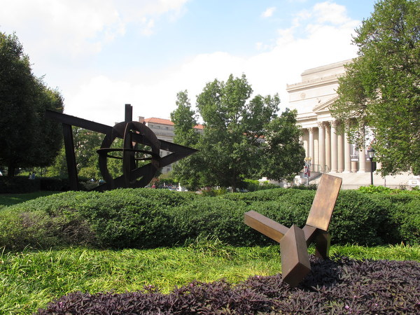 Sculpture Garden At The National Gallery Of Art In October Dc Gardens